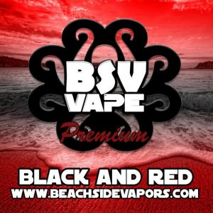 black and red e liquid
