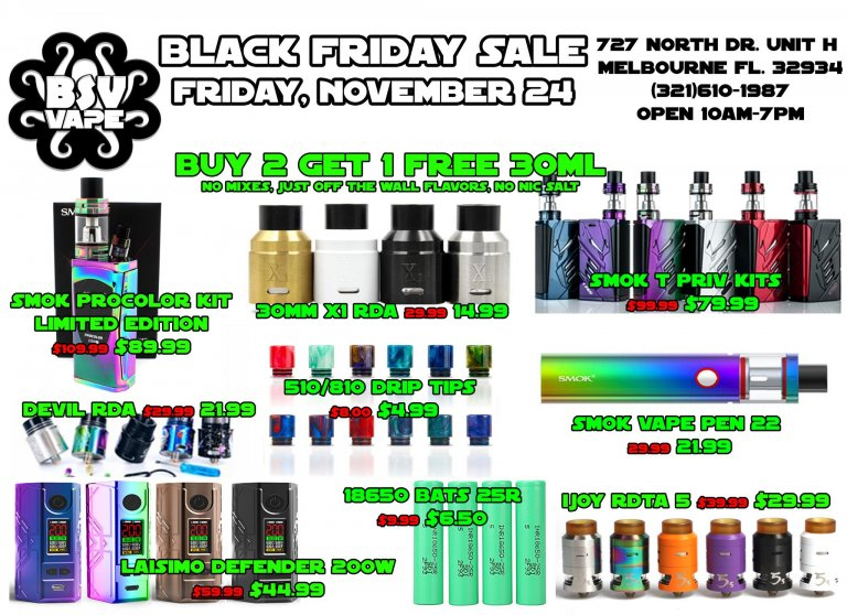 Black Friday Vape Sale Part 1