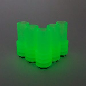 Green UV Sniper Drip Tip in the dark